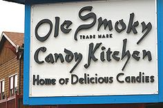 Ole Smoky Candy Kitchen~Gatlinburg, TN~ I loved watching them make taffy when I was a child and now my children do too.