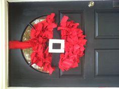 Santa burlap Christmas Wreath!