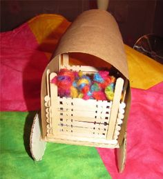 Really cute pioneer crafts! Covered wagon, yarn dolls, candle making and more!