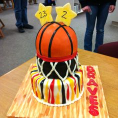 Cutest cake for a basketball party