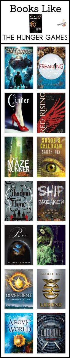 books like the Hunger Games - not your typical list but BETTER!