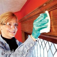 Renew stained and varnished woodwork without all the work and mess of a complete stripping and refinishing job. Here's a much easier process: