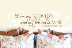 This design combines a romantic Song of Solomon verse to create a love-sharing and romantic ambiance in your bedroom or any other romantic retreat zone in your home. Starting price is just $26.00.
