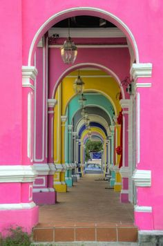 Colorful passage in