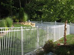 This white aluminum fence is the only kind we're allowed in our subdivision. For back yard