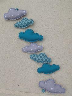 Mobiles et guirlandes on pinterest mobiles felt mobile and cloud mobile - Tissus bleu turquoise ...