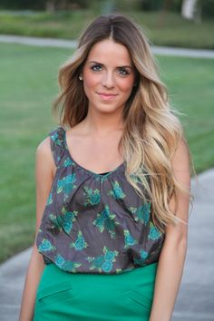 I am so in love with her gorgeous ombre hair!