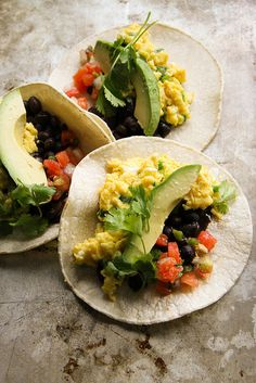 These Breakfast Tacos with Spicy Green Onion and Cheddar Scrambled Eggs would be great on Udi's GF Tortillas!