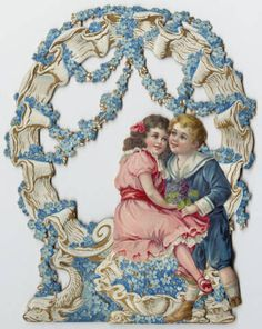 Entwined couple, front and open three-dimensional view :: Archives & Special Collections Digital Images :: early 1900s