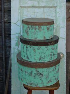 repurposed hat boxes