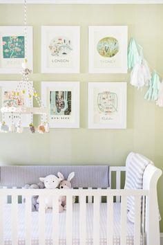 frame, neutral nurseri, wall color, kid nurseri, citi print