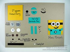 """Minion Punch Art -- with YouTube tutorial -- this is 2x2"""", but could be adapted to other sizes or used as focal point"""
