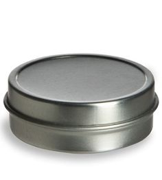 Tin Flat Container 1oz w/ Cover