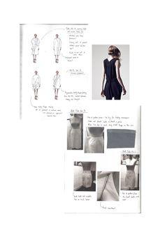 Fashion Sketchbook - fashion design research, fashion sketches, draping on a dress form, fashion portfolio // Mary-Emma Brooks