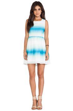 BB Dakota Celerina Horizon Printed Tank Dress in Menthly Blue