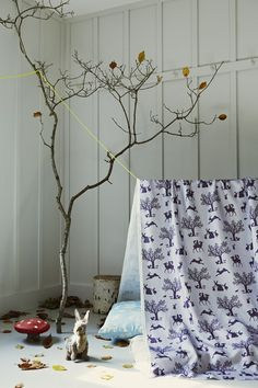 Enchanted woods fabric from Hibou Home 1