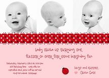 Cute invite wording #ladybug birthday