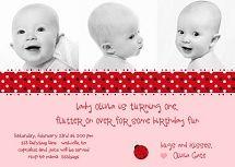 Cute invite wording #ladybug birthday