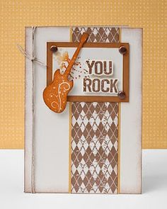 """You Rock"" card for Father's Day. #CTMH #Cards"