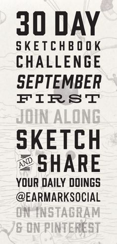 It's that time of year friends! Do you like to sketch, doodle, draw? If so, join along as we do our second annual 30 Day Sketchbook Challenge. Starting September 1st we will create some sort of drawing and share it on Pinterest and Instagram. We welcome you to do the same! It's just for fun and a nice way to bring a little art into your day. Use the tag #30daysketchbookchallenge so we can easily find your work and share your pics! We hope you will draw with us!