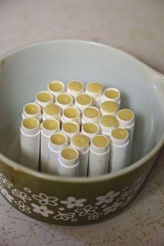 DIY Burt's Bees style Lip Balm Recipe - 8 cents Per Tube!
