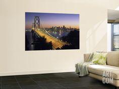 Oakland Bay Bridge, San Francisco, California, USA Wall Mural by Walter Bibikow at Art.com