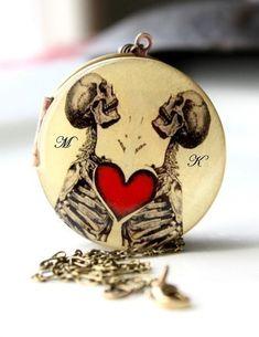 Skeleton Love necklace