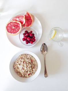 Oats and Berries- Yum.