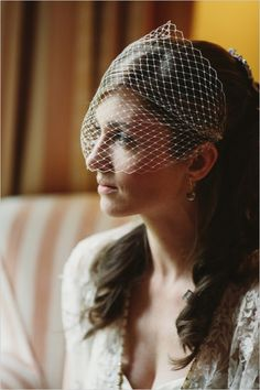 bird cage veil http://www.weddingchicks.com/2013/12/12/dreamy-tuscan-wedding/