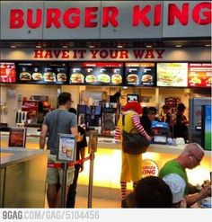 Meanwhile in Burgerking … TRAITOR!!