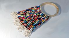 DIY - Bolsa de rolinhos de revista - Handbag with rolls magazine - Bolsa con rollos de revistas