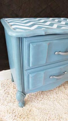 Nightstand redo w before and after pix.  Other furniture makeovers here also