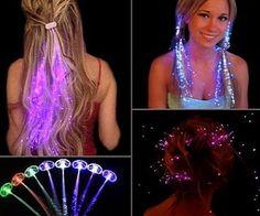 Fiber Optic Light-Up Hair