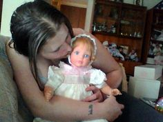 "Me kissing ""Memories"" My favorite little Susan Wakeen baby doll from the top of the line S/W Signature series! I love her! I have many from that line."