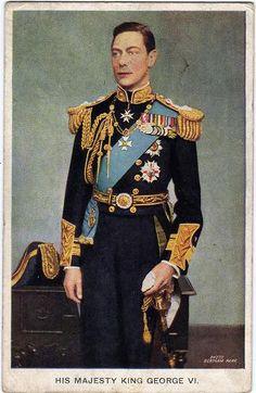 Vintage postcard of King George VI
