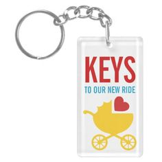 How about surprising the new dad with a pacifier on this keychain?