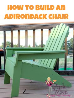 The perfect little Adirondack chair plans with a few modifications and you will be relaxing on your patio iin these beauties soon!