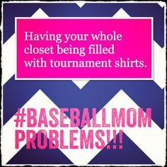 Baseball mom problems lol