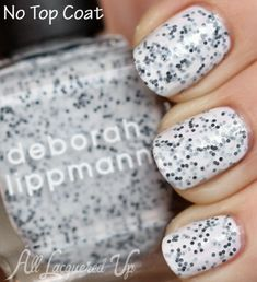 Deborah Lippmann Polka Dots & Moonbeams speckled nail polish swatch from the Staccato collection