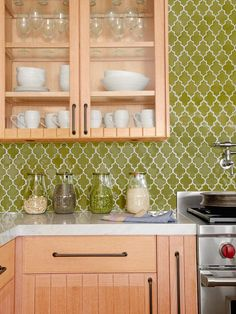 Bold Backsplash - Loving Kitchen Color on HGTV