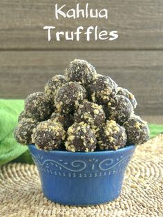 Kahlua Truffles are easy decadence.  There are a few ingredients mixed together and then they become chocolates that impress.