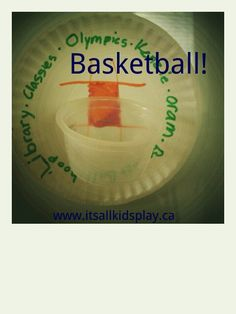 Basketball game and craft! An easy craft for kids that can also be... Olympic themed!    #play #kidscrafts #basketball #Olympics