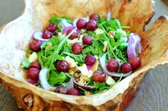 Roasted Grapes, Smoked Cheddar & Walnut Salad - Nibbles By Nic
