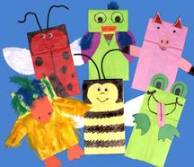 anim puppet, anim paper, paper bag puppets, paper bags, librari craft