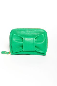 green bow wallet