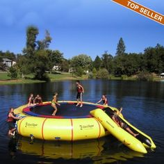 Water trampoline - what a fun way to spend some time outside! #lake #outdoors #PlugOut