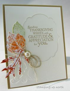 stamping up north: Stampin Up French Foliage