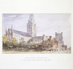 Chichester Cathedral, John Constable, 1834