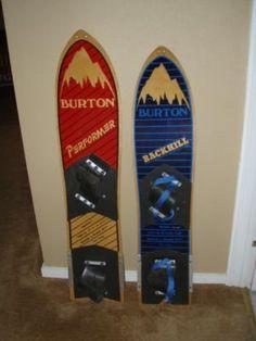 Vintage Burton Boards #ski #snowboard #Burton #powder #snow