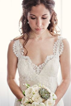 One VERY gorgeous bride. #bride #beautiful